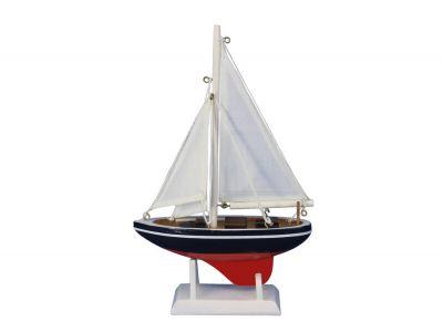 Wooden American Sailer Model Sailboat Decoration 9\
