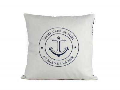 Yacht Club Anchor Decorative Throw Pillow 16\
