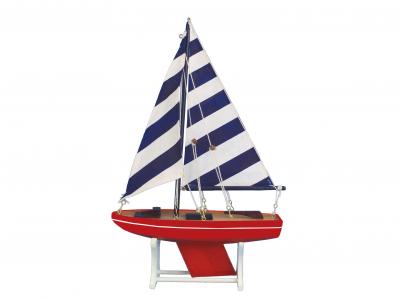 Wooden It Floats American Captain Model Sailboat 12\
