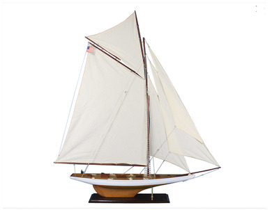Wooden Columbia Model Sailboat Decoration 60\