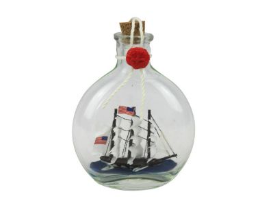 USS Constitution Model Ship in a Glass Bottle 4\