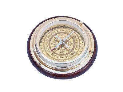 Brass Directional Desktop Compass 6\