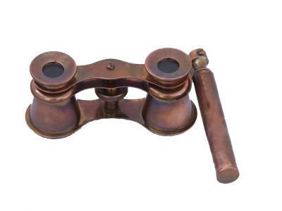 Scout\'s Antique Copper Binocular With Handle 4\