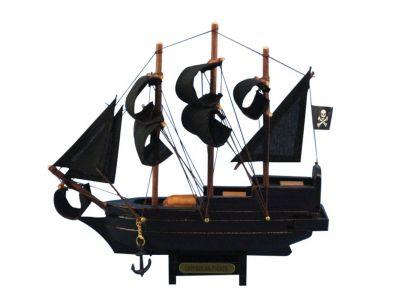 Famous Pirate Ship Hampton Nautical Calico Jacks The William Model Ship in a Glass Bottle 11