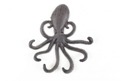 Cast Iron Wall Mounted Decorative Octopus Hooks 7\