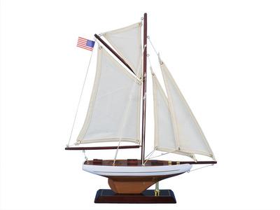 Wooden Columbia Model Sailboat Decoration 16\