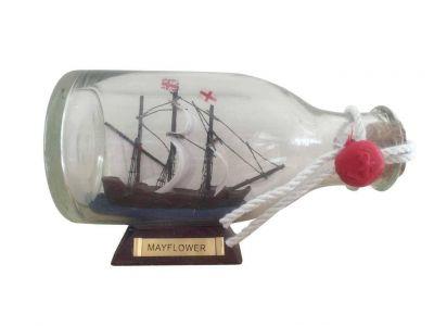 Mayflower Model Ship in a Glass Bottle 5\