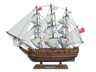 Wooden HMS Bounty Tall Model Ship 15