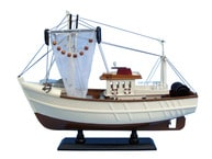 Wooden Sushi Bar Model Fishing Boat 18
