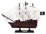 Wooden Captain Kidds Adventure Galley White Sails Model Pirate Ship 12