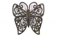 Cast Iron Butterfly Trivet 8