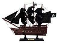 Wooden Captain Kidds Black Falcon Black Sails Model Pirate Ship 12