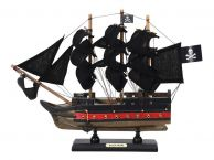 Wooden Black Pearl with Black Sails Limited Model Pirate Ship 12