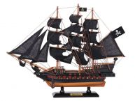 Wooden Ben Franklins Black Prince Black Sails Limited Model Pirate Ship 15