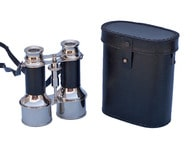 Commanders Chrome Binoculars with Leather Belt and Leather Case 6