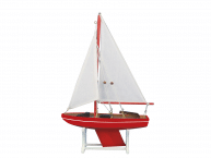 Wooden It Floats Nautical Rose Model Sailboat 12