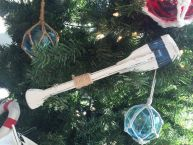 Wooden Rustic King Harbor Decorative Squared Rowing Boat Oar Christmas Ornament 12
