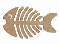 Aged White Cast Iron Fish Bone Trivet 11