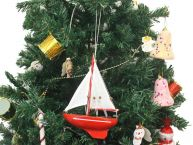 Wooden Compass Rose Model Sailboat Christmas Tree Ornament