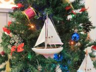 Pink Sailboat Christmas Tree Ornament 9