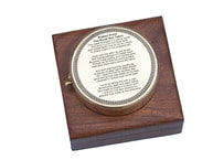 Brass Robert Frost Poem Compass 4