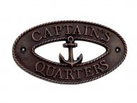 Antique Copper Captains Quarters Sign 9