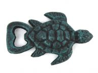 Seaworn Blue Cast Iron Turtle Bottle Opener 4.5
