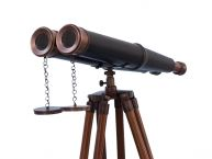 Floor Standing Admirals Bronzed With Leather Binoculars 62