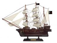 Wooden Blackbeards Queen Annes Revenge White Sails Pirate Ship Model 15