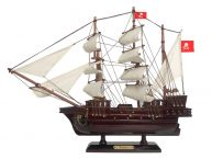 Wooden Henry Averys Fancy White Sails Pirate Ship Model 15
