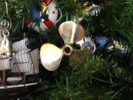 Brass RMS Titanic Propeller Christmas Tree Ornament