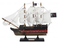Wooden Blackbeards Queen Annes Revenge White Sails Limited Model Pirate Ship 12