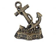 Antique Gold Cast Iron Anchor Door Stopper 8