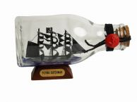 Flying Dutchman Pirate Ship in a Glass Bottle 5